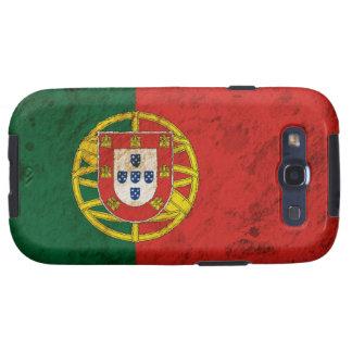 Bandera portuguesa rugosa samsung galaxy s3 cárcasas