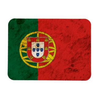 Bandera portuguesa rugosa imán