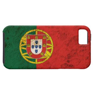 Bandera portuguesa rugosa iPhone 5 carcasas