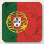 Bandera portuguesa rugosa posavaso