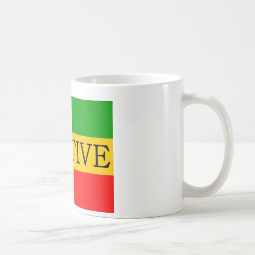 Bandera positiva tazas de café