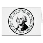 Bandera Posterized del estado de Washington Tarjeta
