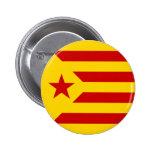 Bandera protagonizada rojo de Cataluña Pins