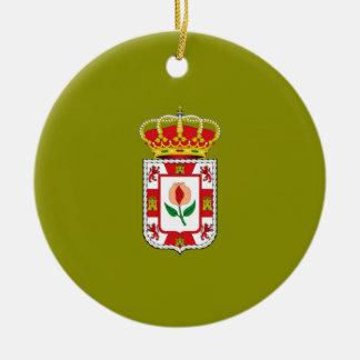 Bandera provincial de Granada (España) Ornamento Para Arbol De Navidad