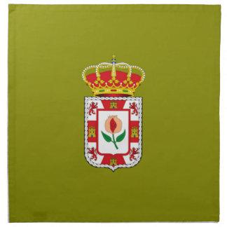 Bandera provincial de Granada (España) Servilletas Imprimidas