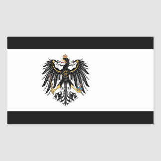 Bandera prusiana pegatina rectangular