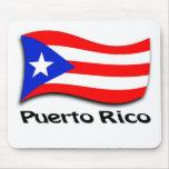 Bandera puertorriqueña alfombrilla de ratones
