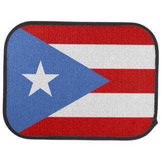 Bandera puertorriqueña alfombrilla de auto