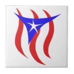 Bandera puertorriqueña azulejo