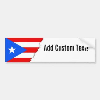 Bandera puertorriqueña clásica pegatina para auto