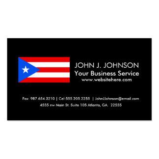 Bandera puertorriqueña clásica tarjetas de visita