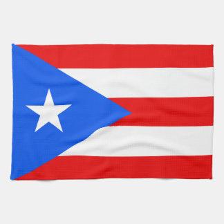 Bandera puertorriqueña clásica toallas
