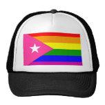 Bandera puertorriqueña del orgullo gay gorra
