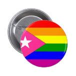 Bandera puertorriqueña del orgullo gay pins