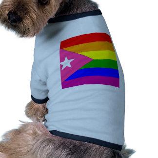 Bandera puertorriqueña del orgullo gay ropa perro