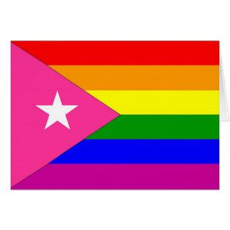 Bandera puertorriqueña del orgullo gay tarjeta de felicitación