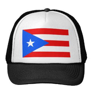 Bandera puertorriqueña grande gorro de camionero
