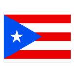 Bandera puertorriqueña grande tarjetas postales