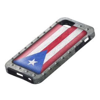 Bandera puertorriqueña industrial funda para iPhone SE/5/5s