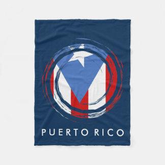 Bandera puertorriqueña manta de forro polar