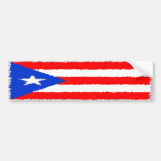 Bandera puertorriqueña pegatina para auto