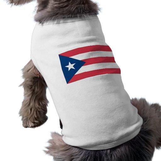 Bandera puertorriqueña playera sin mangas para perro