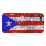 Bandera puertorriqueña rascada y llevada iPhone 5 fundas