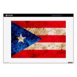 Bandera puertorriqueña rugosa skins para portátiles