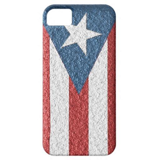 Bandera puertorriqueña texturizada para el iPhone  iPhone 5 Case-Mate Carcasa
