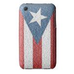 ¡Bandera puertorriqueña texturizada para el iPhone iPhone 3 Case-Mate Fundas