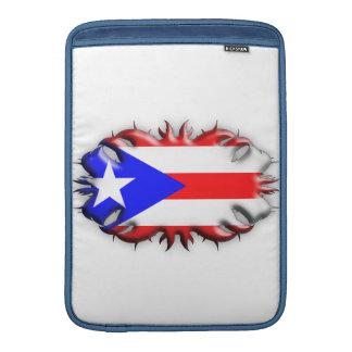 Bandera puertorriqueña - tribal funda  MacBook