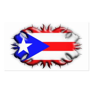 Bandera puertorriqueña - tribal tarjetas de visita