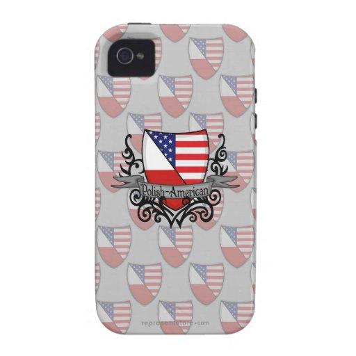 Bandera Pulimento-Americana del escudo iPhone 4/4S Carcasa