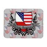 Bandera Pulimento-Americana del escudo Imanes Flexibles