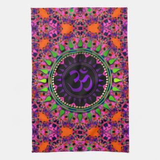 Bandera púrpura adelic del paño de OM del rosa de Toallas De Mano