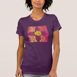 Bandera púrpura de New México del vintage T Shirts