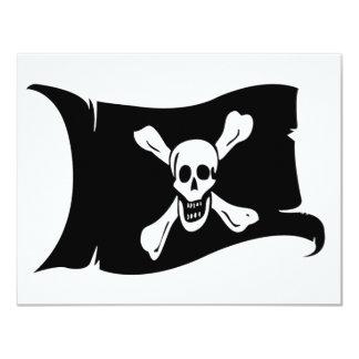 """Bandera que agita #12 Richard Worley Invitación 4.25"""" X 5.5"""""""