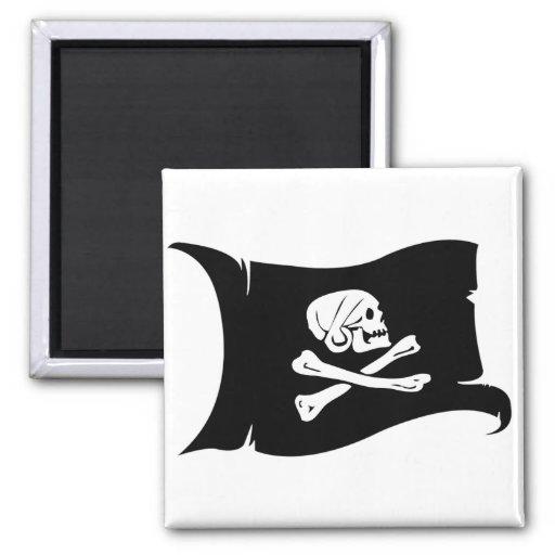 Bandera que agita #5 Henry cada Imán Cuadrado