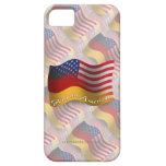 Bandera que agita Alemán-Americana iPhone 5 Protectores