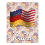 Bandera que agita Alemán-Americana Invitacion Personal