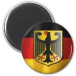 Bandera que agita alemana imán redondo 5 cm