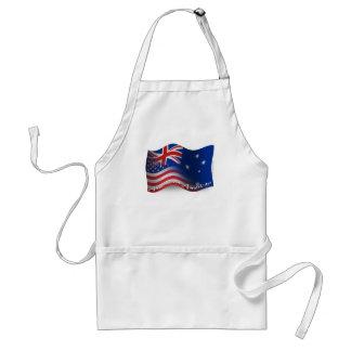 Bandera que agita Australiano-Americana Delantales