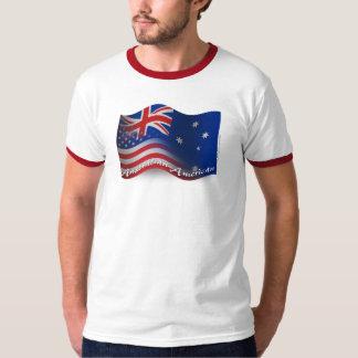 Bandera que agita Australiano-Americana Playera
