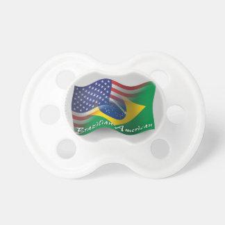 Bandera que agita Brasileño-Americana Chupetes