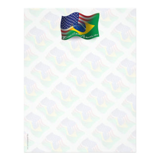 Bandera que agita Brasileño-Americana Membrete