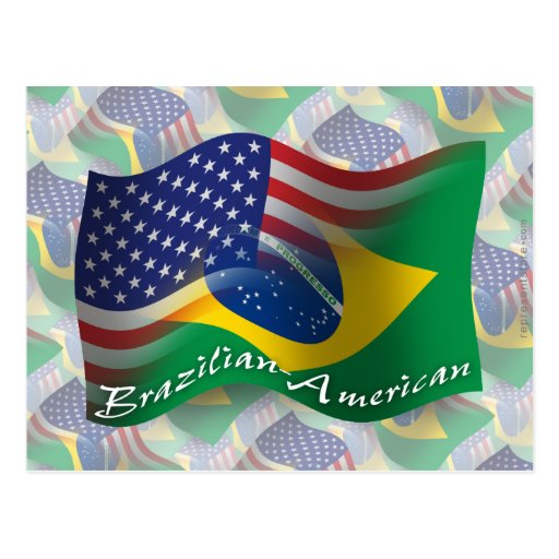 Bandera que agita Brasileño-Americana Postal