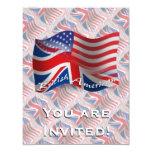 Bandera que agita Británico-Americana Anuncios