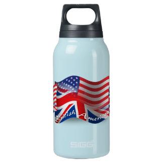 Bandera que agita Británico-Americana Botella Isotérmica De Agua