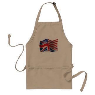 Bandera que agita Británico-Americana Delantal