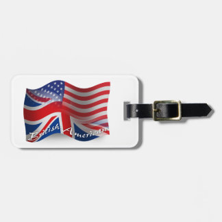 Bandera que agita Británico-Americana Etiquetas Para Maletas